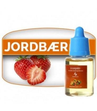 E-væske med Jordbær og nikotin til at dampe i en E-cigaret - fra Hangsen